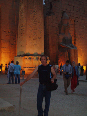 Me outsite Temple of Isis